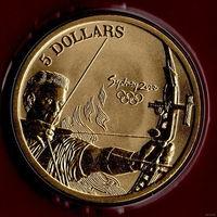 Австралия 5 долларов  2000 /спорт/ Олимпиада Стрельба из Лука / UNC