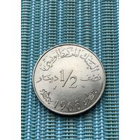 Тунис 1/2 динара 1968 г.