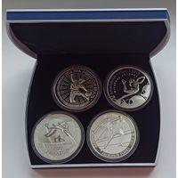 Футляр для 4 монет 100 рублей 74.00 мм