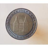 2 евро Германия 2006 J Федеральные земли Шлезвиг-Гольштейн