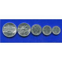Северная Корея 5 монет ( 1+5+10+50 чон + 1 вон ) UNC