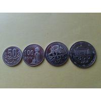 Узбекистан 4 монеты 2018 года.