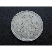 Индия 1 рупия 1984 год.