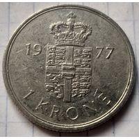 Дания 1 крона, 1977     ( 6-2-3 )