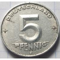Германия - ГДР 5 пфеннигов, 1952       E       ( 6-5-5 )