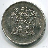 ЮАР (Южная Африка), 1 ранд 1969, юбилейная, серебро, африкаанс (смотри описание)