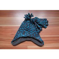 Комплект из шапки и перчаток зимний на 3-4 года