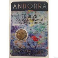 2 евро 2018 Андорра Права человека BU
