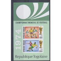 [1818] Того 1974. Спорт.Футбол.Чемпионат мира. БЛОК.