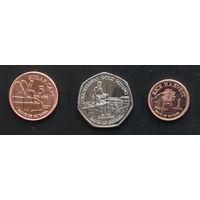Гайана 3 монетт 2011-2013 годов