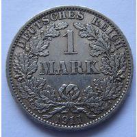 Германия 1 марка 1911 отметка монетного двора A - Берлин