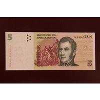 Аргентина 5 песо 2013 UNC