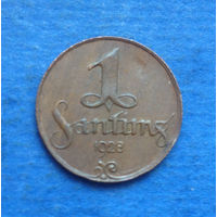 Латвия 1 сантим 1928