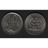 Южная Африка (ЮАР) _km85 10 центов 1984 год (b06)