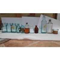 Баночки-бутылочки, разные старинные вещи