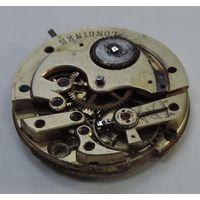Механизм от карманных часов Longines до 1917 г. Диаметр 4 см. Не исправный.