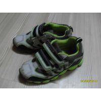 Кроссовки детские зелено-серые
