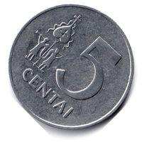 Литва. 5 центов. 1991 г.