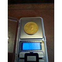 Золотая   монета.не каждому по карману   .999 проба(  тираж ограничен) редчайшая монета аналого нет!!!