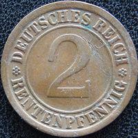 YS: Германия, 2 рентенпфеннига 1923A, KM# 31 (1)