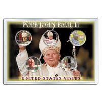 США 2005 набор ЦВЕТНЫХ КВОТЕРОВ ПАПА Paull II 5шт