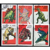 Вымершие животные Гвинея 1987 год серия из 6 марок