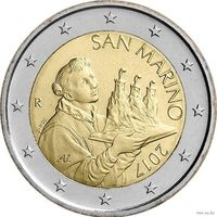 2 евро 2017 Сан-Марино UNC из ролла