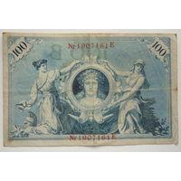 Германия . 100 марок 1908г. красная печать.