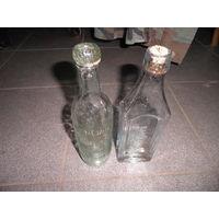 Бутылки с надписями 2 шт ПМВ.