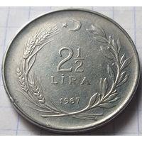 Турция 2,5 лиры, 1967       ( 7-9-4 )