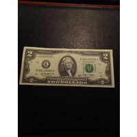 2 доллара США 2009 года K 08129920 A