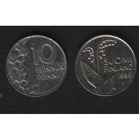 Финляндия km65 10 пенни 1995 год (M) (f39)