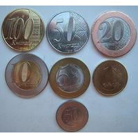 Ангола 1-5-10-20-50-100 кванз, 50 сентимос 2012-2015 г. Комплект