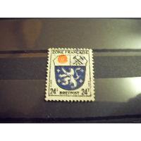 1945 Германия Французская зона оккупации герб (1-4)
