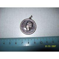 Медаль посеребренная,Западная Европа,Моцарт