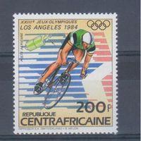 [637] ЦАР 1983. Спорт.Велоспорт.Велосипед.