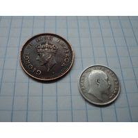 Небольшой сборный лот колониальной Индии разных эпох с серебром, с МЦ