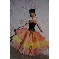 """Продам новое ПЛАТЬЕ для куклы Барби: """"ФЕЕРИЯ"""" - машинный самошив, сидит весьма аккуратно. Сама кукла, как и её головной убор в стоимость не входят. Пересыл по почте платный!"""