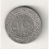 Суринам 10 цент 1972