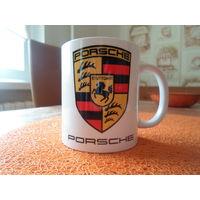 """Оригинальная кружка с логотипом """"Porsche"""""""