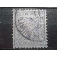 Вюртемберг 1881 Служебная марка 20 пф