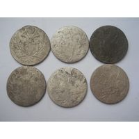 10 грошей 1810-1840 6 штук