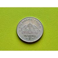 Швеция. 1 крона 2001.