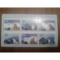 Киргизия 2007 Хищные птицы, блок Mi-12,0 евро