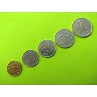 Кыргызстан 2008-2009  5 монет 50 тыйин, 1,3,5,10 сом