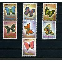 Никарагуа 1986г. бабочки. 7м.