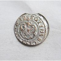 Шиллинг 1642 Рига Кристина Августа Ваза Прибалтийские владения Швеции