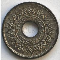 Таиланд 5 сатанг 1944-1945 года (случайная монета). Цинк. Краузе y61. Гурт 2,2 мм