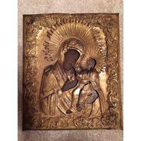 Редкая икона 19 век Иверская Пресвятая Богородица