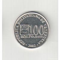100 боливарес 2002 года  Венесуэлы 20-45